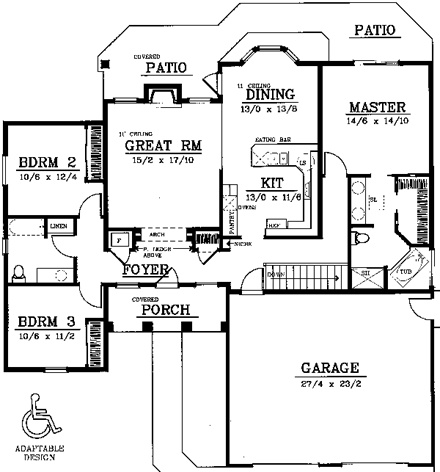 Age in place home designs at at for Aging in place house plans