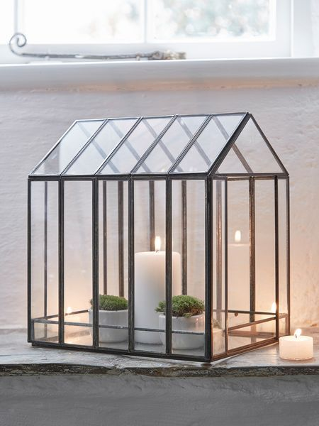 Rustic Glass Terrarium - Nordic House. Perfect for candles, plants or those gorgeous little objects that you want to display. #glass #terrarium #weddings