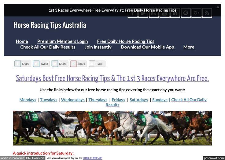 Saturdays July 22nd Free Horse Racing Tips