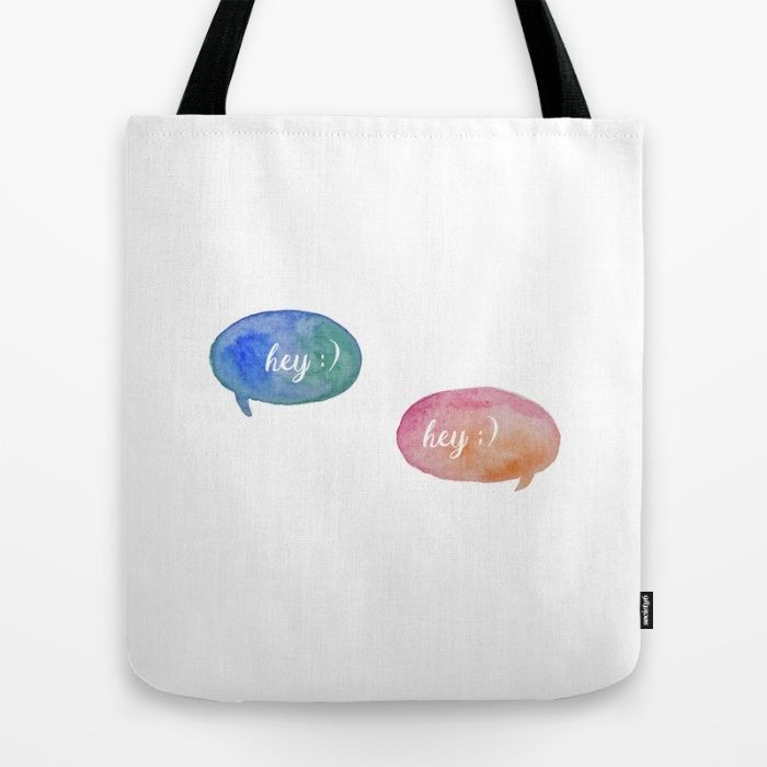 Hey! Tote Bag by The Willow Wood Studio | Society6