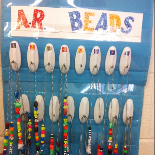 Accelerated Reader Beads...what a great idea! I wonder if they have AR in Ontario?