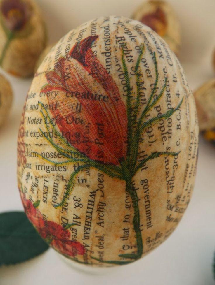 SewforSoul: Plastic Easter Eggs ~ Decoupage Tutorial
