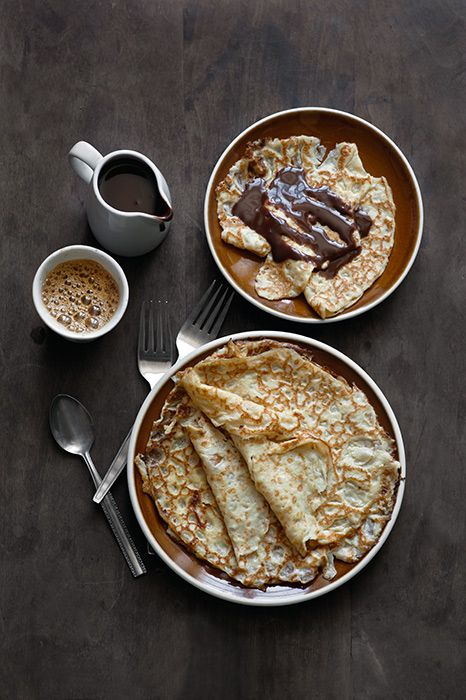 Crepes with Chocolate & Coffee.