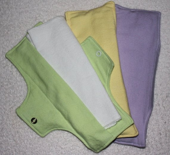 3 Cloth Menstrual Pads by josunmentionables on Etsy, $15.00
