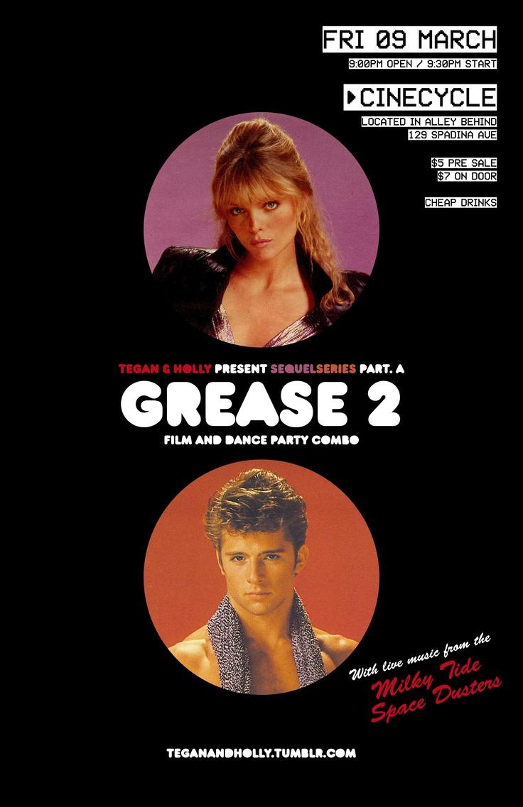 #SequelSeries part A: Grease 2 (9.03.12) A Tegan production.