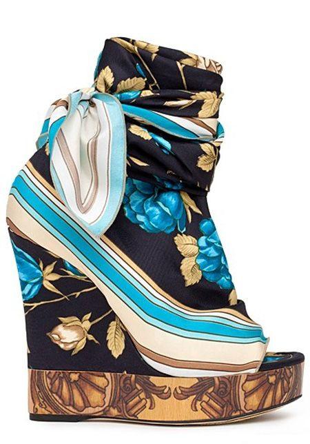 Dolce Gabbana HeelsShoes, Fashion, Dolce Gabbana, 2012 Wedges, Spring Summer, Spring Summe 2012, Heels, Silk Scarves, Boots