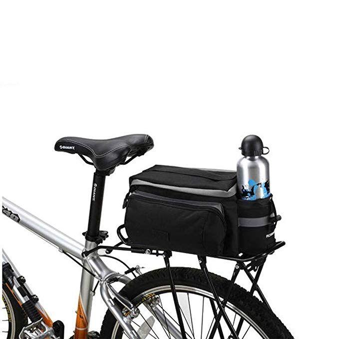 Black Multi Functional Bicycle Rear Seat Trunk Bag Shoulder Handbag Bag Pannier Review Bike Panniers Bicycle Panniers Bicycle