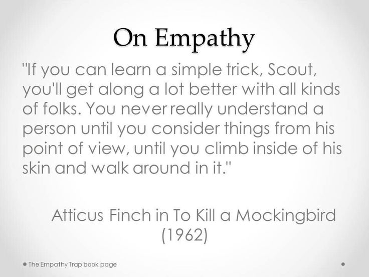 empathy to obliterate some mockingbird