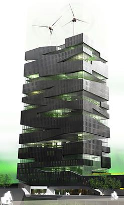 Simple Architecture Design Of Building Buildings And Other