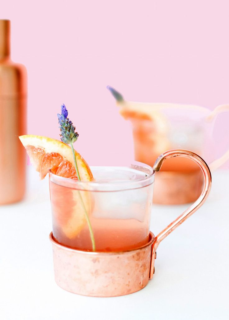 A simple and refreshing lavender grapefruit cocktail for your next happy hour!