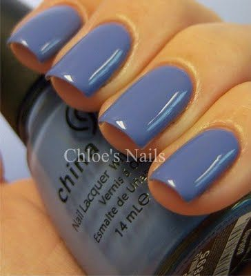 """China Galze """"Secret Periwinkle"""" love this color!"""