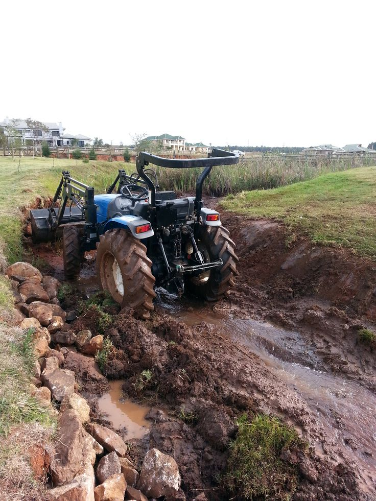 Beginning of excavation and removal of mud