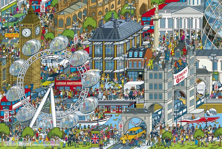 London from Rod Hunt's book Top Gear Where's Stig? The World Tour ---- © Rod Hunt 2014 http://www.rodhunt.com