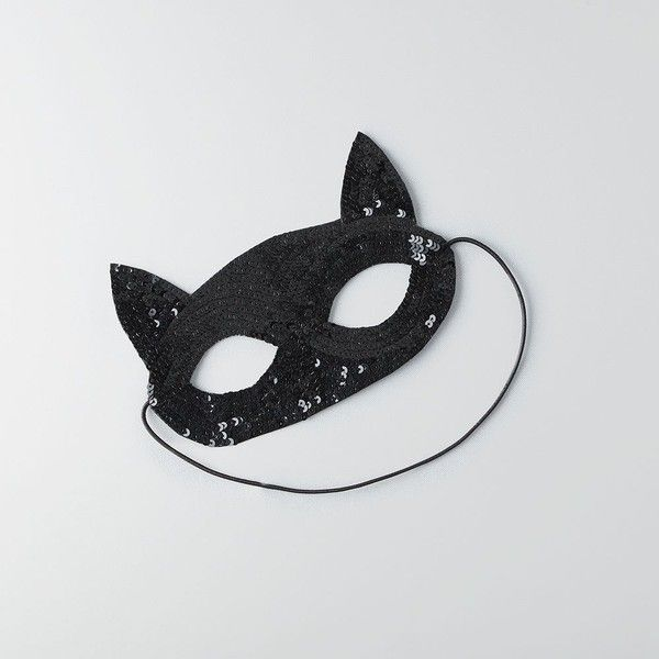 AE Cat Face Mask ($7.77) ❤ liked on Polyvore featuring costumes, black, cat costumes, cat ears costume, cat halloween costumes, adult cat costume and adult halloween costumes