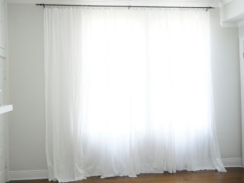 Top 25 best off center windows ideas on pinterest - Off white curtains for living room ...