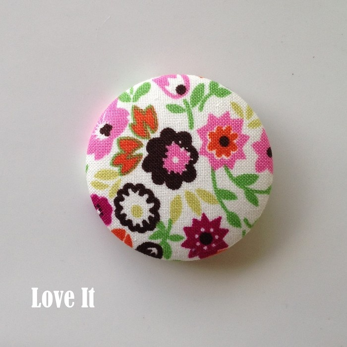 Fabric Covered Brooch - Great for Mothers Day by Love It
