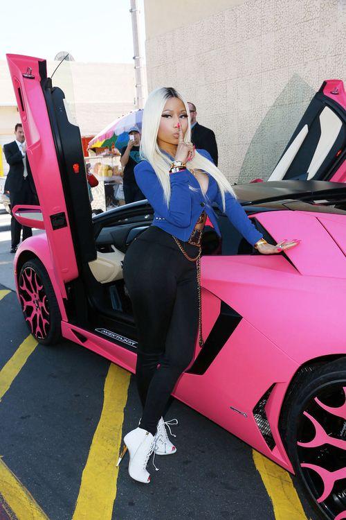 Nicki Minaj and her $400,000 Lamborghini