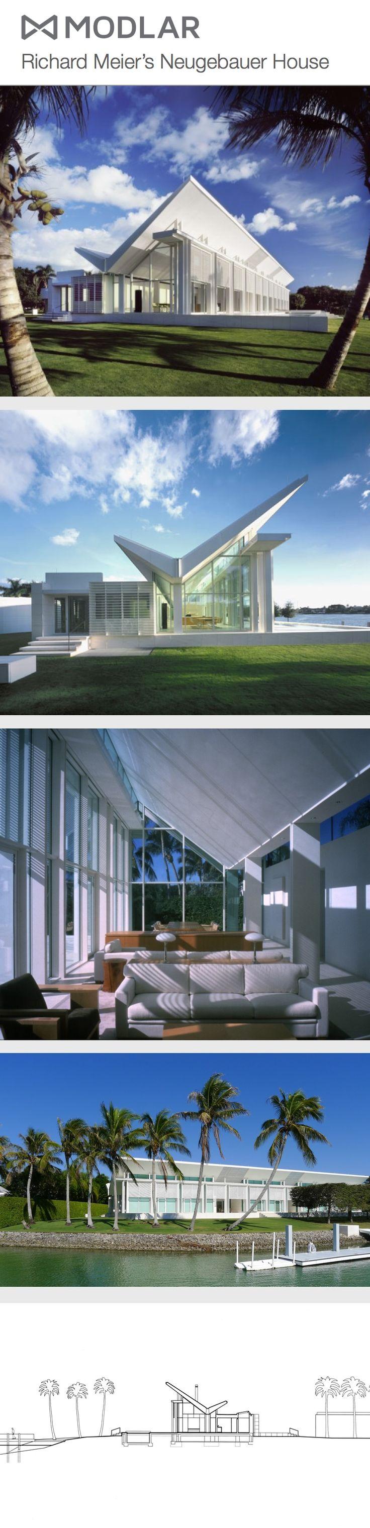 Richard Meier's Neugebauer House #Meier #Architecture modlar.com