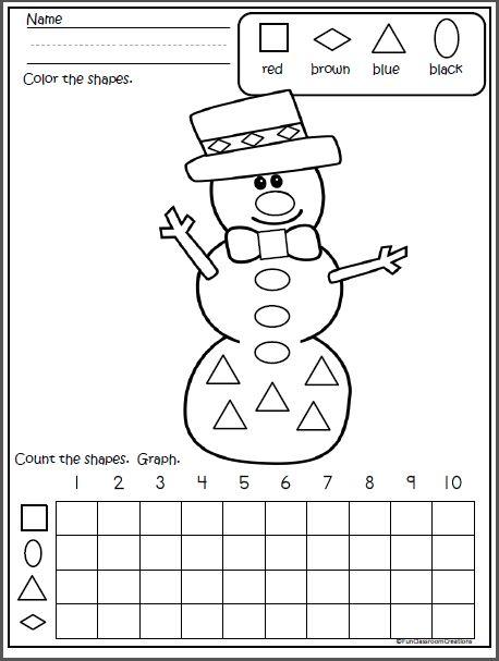 snowman shapes graph winter p1 kindergarten math activities graphing worksheets preschool math. Black Bedroom Furniture Sets. Home Design Ideas