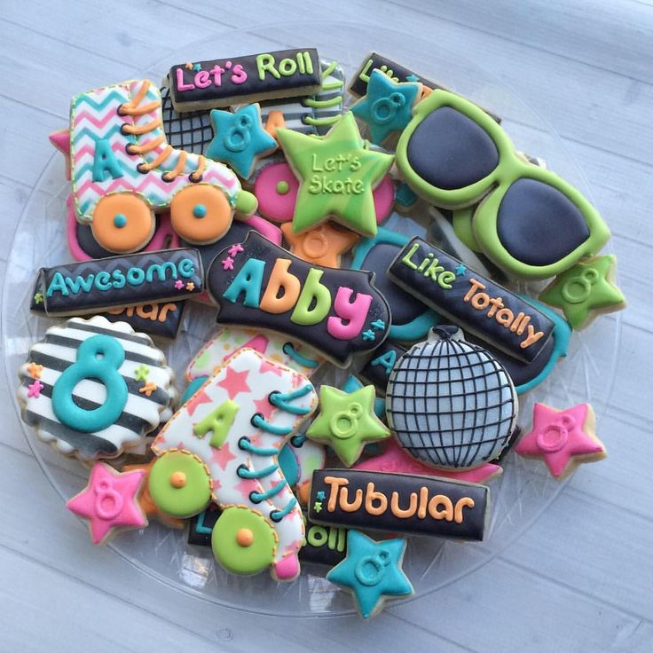 Totally 80's Skating Party Cookies
