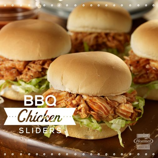 These BBQ chicken sliders add flavor and fun to a weeknight dinner or a last minute get together, and they are easy and fast to prepare. #TastySliders