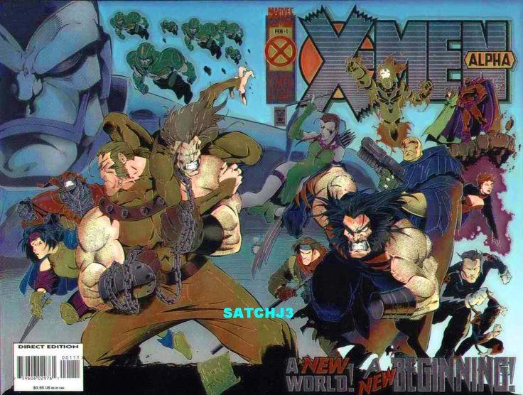 x-men alpha foil cover | JOE MADUREIRA ART X-MEN ALPHA #1 UNUSED COVER WOLVERINE AGE OF ...