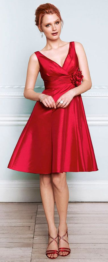 For Simple Ornate Xbedrcow Wedding Empire Party Red Flowers Dress SzVqUMp