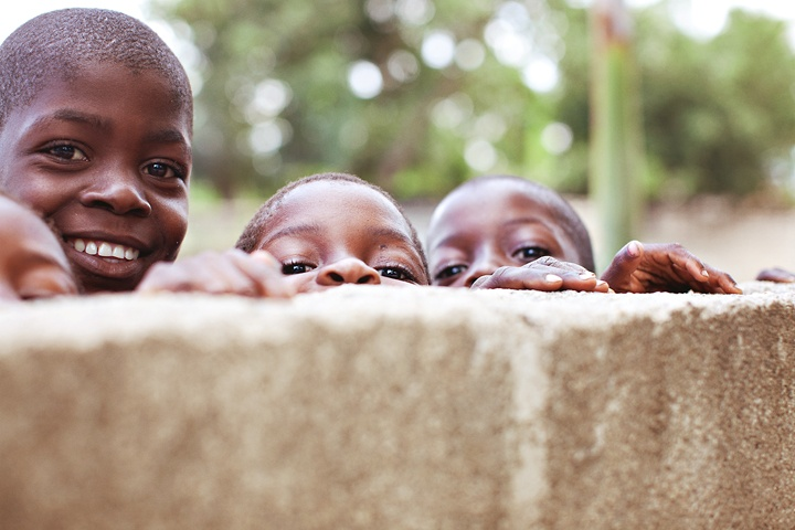 I love these sweet Haitian faces.
