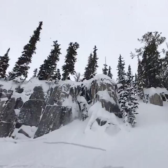 Stomped!\n\n\u26f7 @forstermeeks \ @robaseltine #brightonresort #skiing #powderday #goodtimes