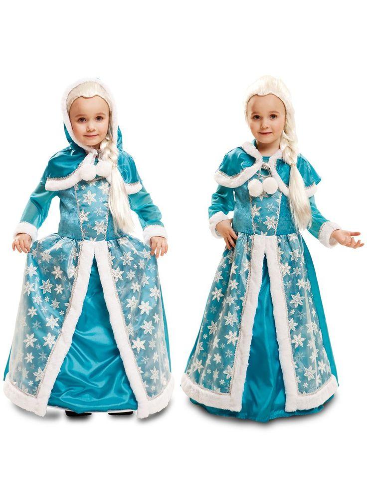 Disfraz de reina del hielo para niña