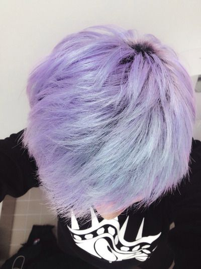Indigo blonde hair. This sort of colour can be achieved through an ash blonde dye with a blue-violet base, or the use of diluted indigo dye.