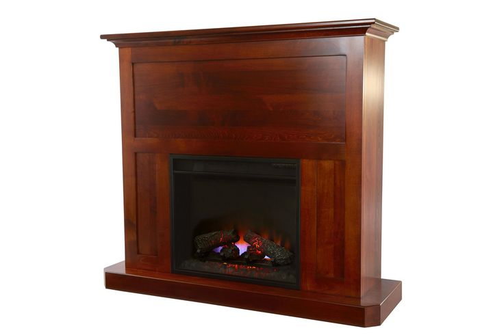 """Amish Fireplace Mantel with 23"""" Insert"""