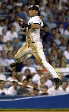 Derek Jeter. Love the jump throw !