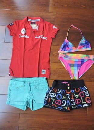 À vendre sur #vintedfrance ! http://www.vinted.fr/mode-enfants/filles-maillots-de-bain-and-co/28206862-lot-maillot-bain-2-p-roxy-shorts-polo-voiles-de-st-tropez-12-a