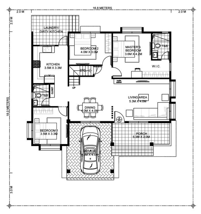 This Four Bedroom Modern House Design With Roof Deck Has A Total Floor Area Of 177 Square Meters Not In Modern Bungalow House Bungalow House Design House Plans
