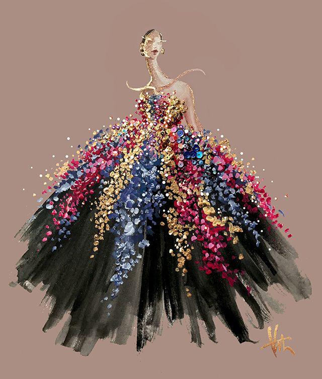 Paper Fashion - Oscar de la Renta @dheerajoshi