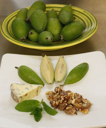 Feijoas in tarts and mousses also with red wine and fish!  Interesting.