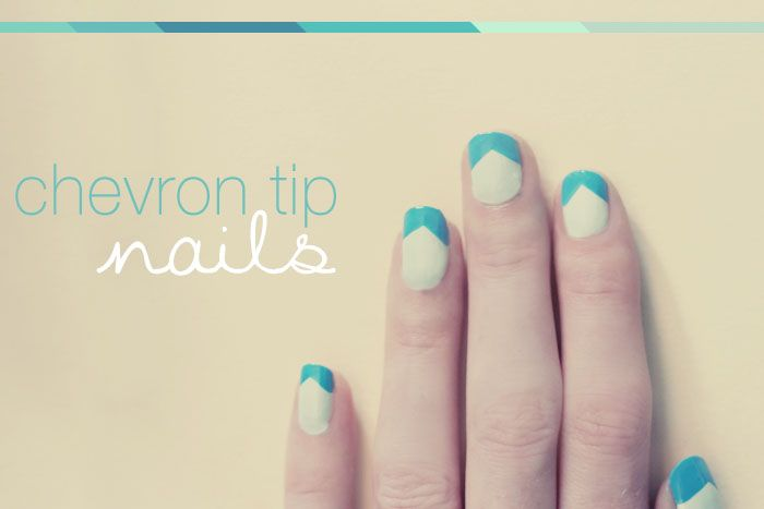 I have been trying out different chevron nail ideas and this is by far the easiest. Easy Chevron Tip Nails