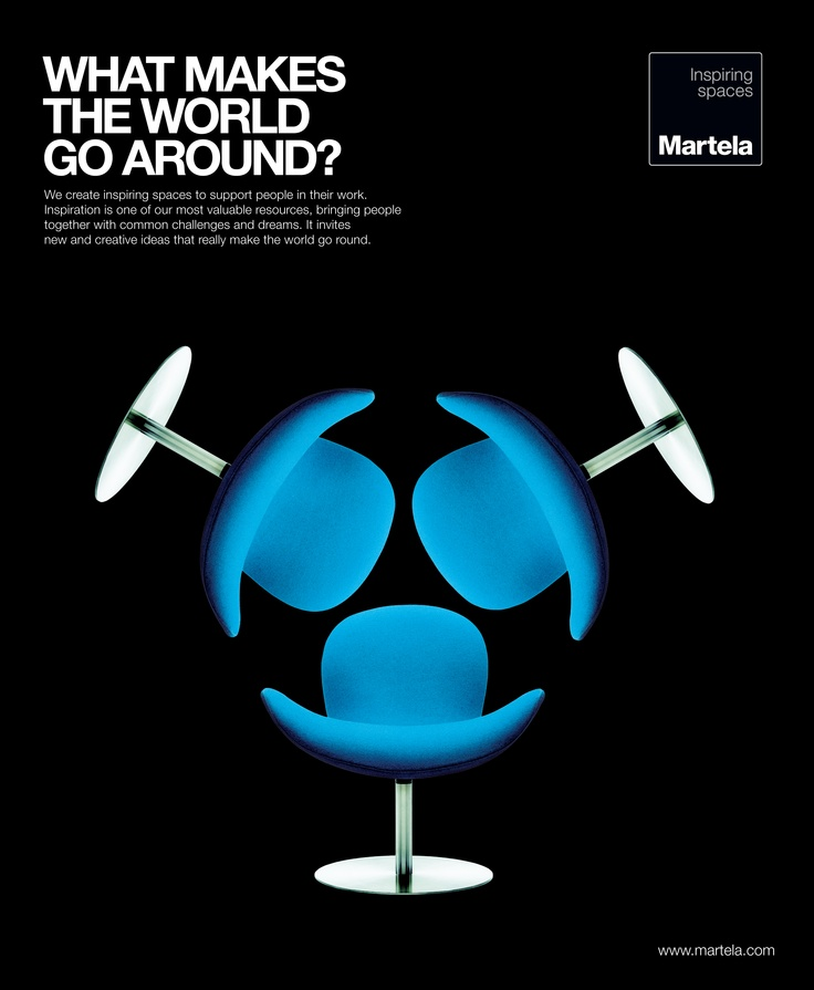 Martela advertising in 2012. Graphic design by adv.agency Satumaa.