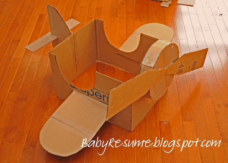 how to make a big cardboard airplane | Here's my version of the Cardboard Box Airplane: