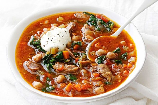 Warm up winter weeknights with this slow-cooker soup – it's packed with warming spices and tender lamb shanks, plus it's low-cal and gluten-free!