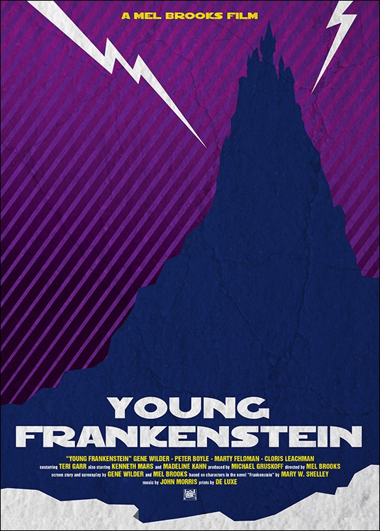 Young Frankenstein Poster Tribute by Stefano Manca, via Behance