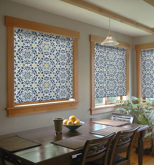 Vibrant roller shades give a space a unique and fresh look. Stay classic or go bold with colors and patterns custom made for your home.