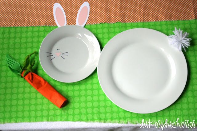 too cute! Easter place setting