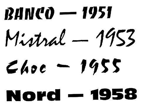 Polices de typographie des années 1950 à télécharger