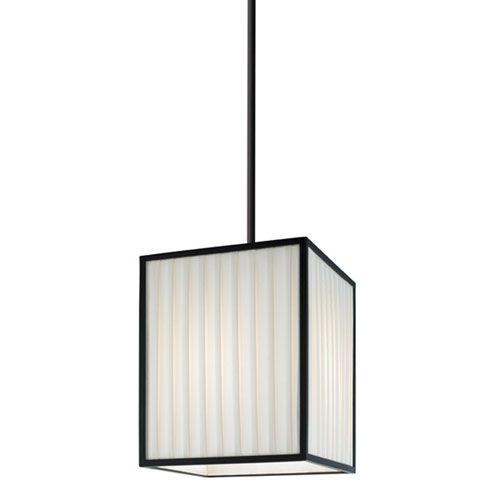 Piega Satin Black One-Light Pendant