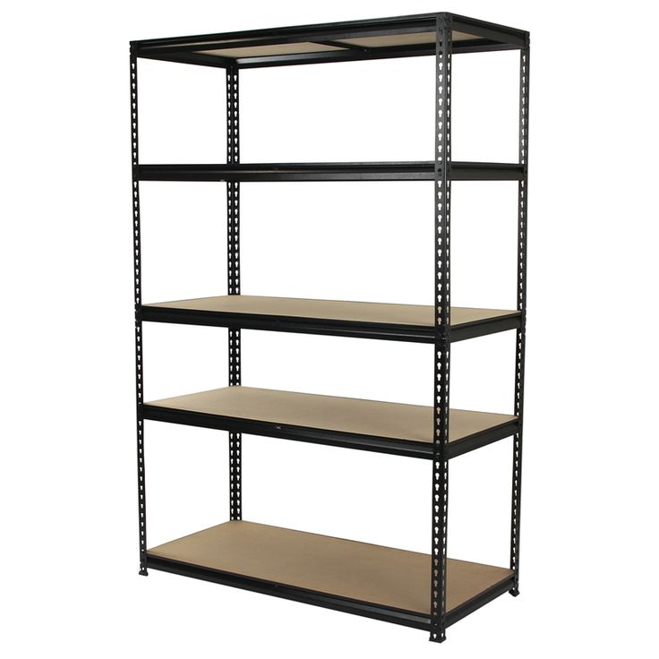 Qiq Fix 5 Shelf Black Storage Unit I N 2581012 Bunnings