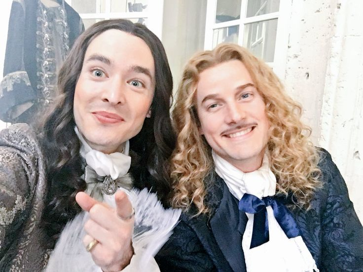 The amazing Alexander Vlahos & Evan Williams as Monsieur Philippe Duc D'Orleans & Chevalier de Lorraine on the set of Versailles