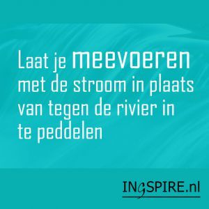 Wijsheid – Laat je meevoeren met de stroom in plaats van tegen de rivier in te peddelen | www.ingspire.nl