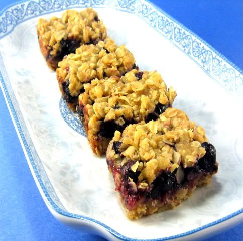 One Perfect Bite: Dandelion Blueberry Bars